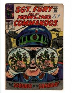 Sgt. Fury & His Howling Commandos # 43 FN Marvel Comic Book Nick Avengers KD1