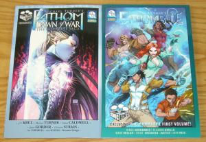 Lot of (2) Michael Turner's Fathom TPBs - exclusive variants - blue dawn of war