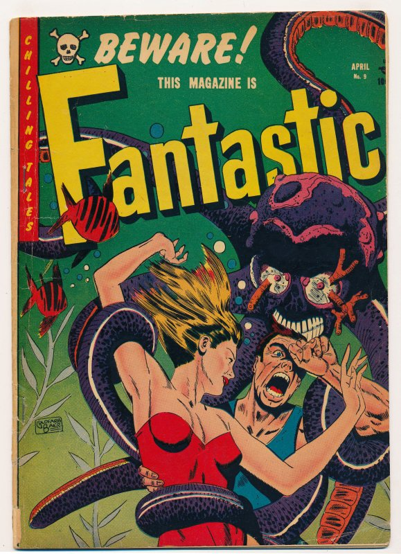 Fantastic (1952 Youthful) #8 VG/FN, #9 VG- Complete series, Captain Science