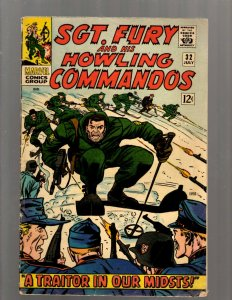 Sgt. Fury & His Howling Commandos # 32 FN Marvel Comic Book Nick Avengers J450
