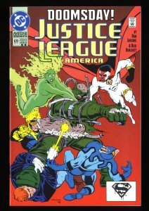 Justice League America (1987) #69 NM+ 9.6 Scarce! 2nd Print