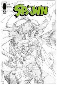 Spawn #261 Satan Saga Wars Pt 3 / Sandoval B&W Sketch Variant (Image, 2016) NM