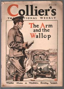 Collier's 6/29/1918-WWI cover & story-pulp fiction-classic ads-VG