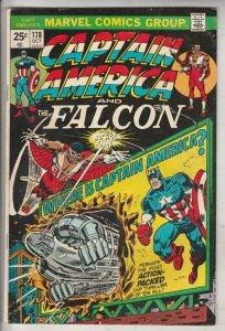 Captain America #178 (Oct-74) VF High-Grade Captain America