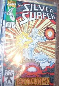 Silver Surfer #62 (Feb 1992, Marvel) the collection agency + battle lines