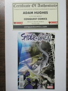 Spider-Gwen #1 Conquest Comics Variant Hybrid Cover Signed by Adam Hughes!