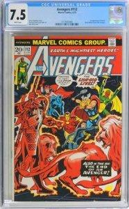 The Avengers #112 (1973) CGC Graded 7.5