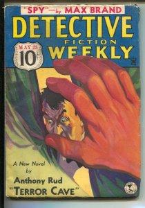 Detective Fiction Weekly 5/25/1935-Hero pulp-Spy-Anthony Hamilton-Max Brand...