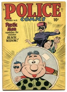 Police Comics #96 1949- Plastic Man v Black Widow VG