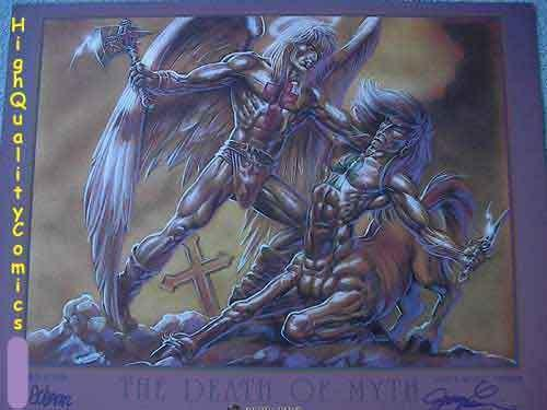 DEATH of MYTH, NM+, Signed by James O'Barr and Joseph Linsner, Limited, 2001