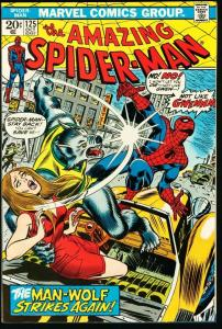 AMAZING SPIDER-MAN #125-MARVEL COMICS-GREAT ISSUE-fine/very fine FN/VF