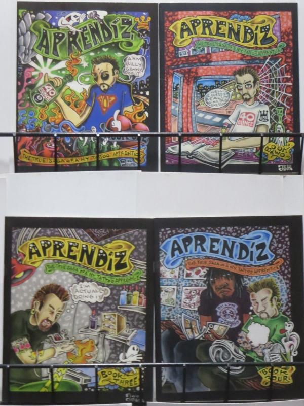 APPRENDIZ by Adam Suerte #1-4 The True Saga of a NY Tattoo Artist mini-comix