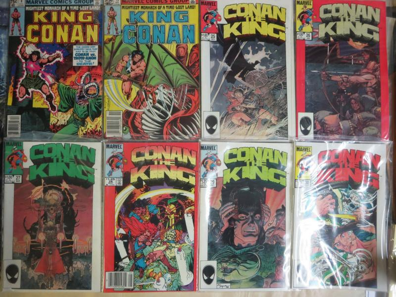 King Conan (Marvel 1980) #4-49 Lot of 11Diff Barbarian Ruler of Aquilonia
