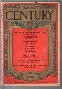 Century 2/1928-contributor profiles-Joseph Conrad-pulp format-G