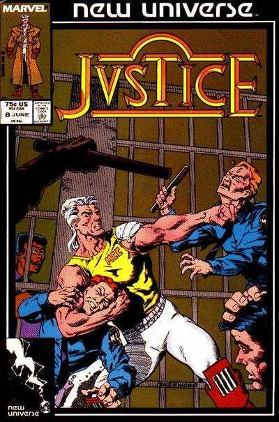Justice (1986 series) #8, NM (Stock photo)