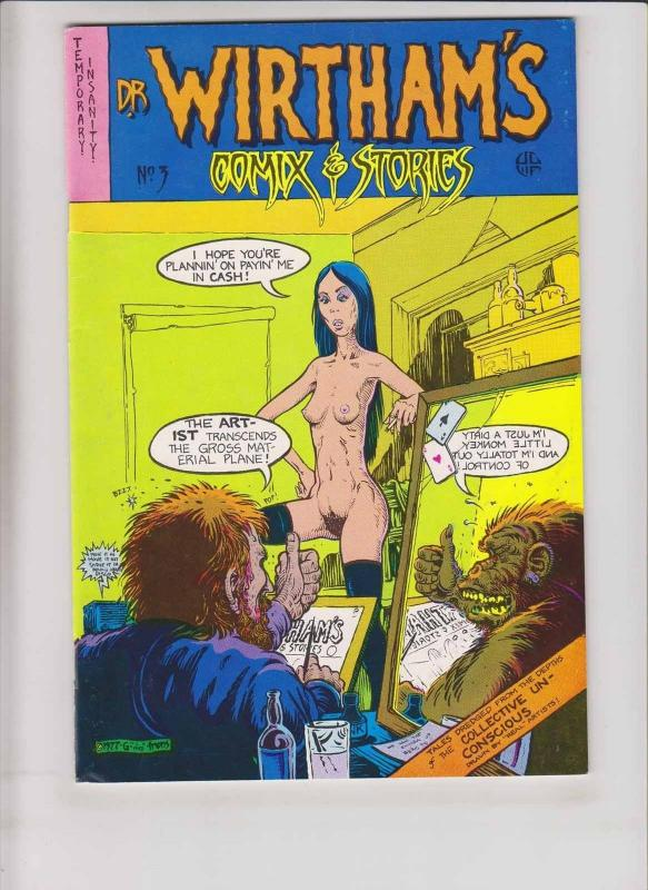 Dr. Wirtham's Comix & Stories #3 VF (1st) print - greg irons  underground comix
