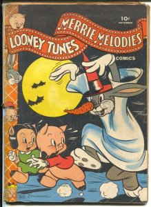 Looney Tunes #28 1943-Dell Halloween cover-Bugs Bunny-Porky Pig-G