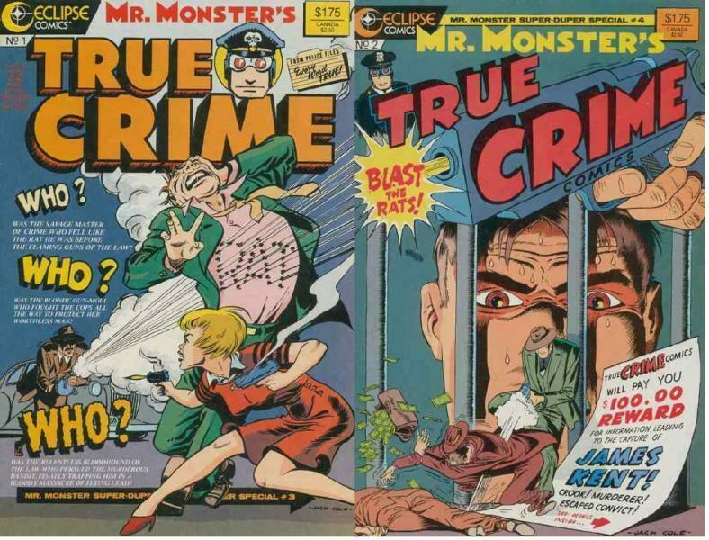 MR MONSTERS TRUE CRIME (1986 EC) 1-2  COMPLETE!