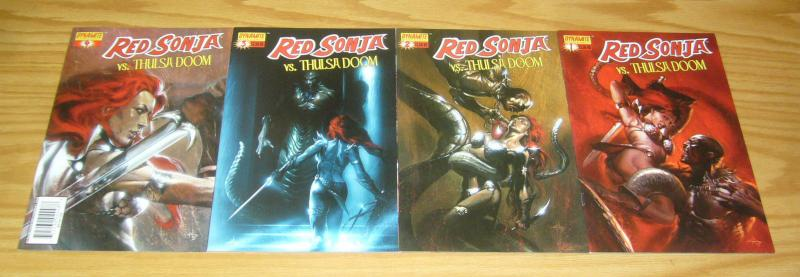 Red Sonja vs Thulsa Doom #1-4 VF/NM complete series - ALL DELL'OTTO VARIANTS set