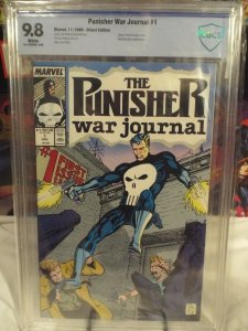 Punisher War Journal #1 - CBCS 9.8 - White Pages - NM/MINT - Origin 1st Issue