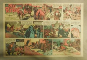Red Ryder Sunday Page by Fred Harman from 7/2/1939 Half Page Size!