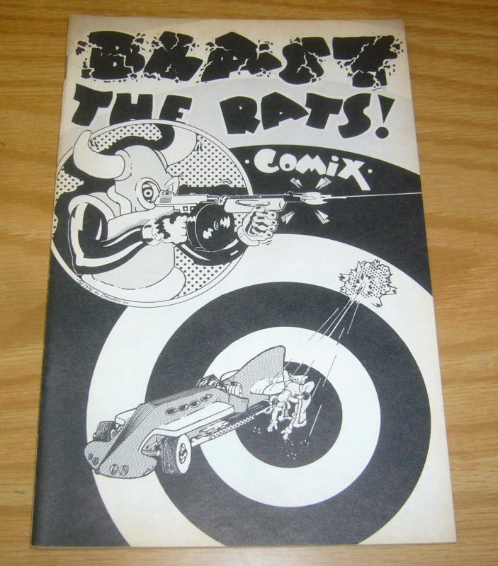 Bud Plant Catalog #11 FN blast the rats! comix cover - june 1975