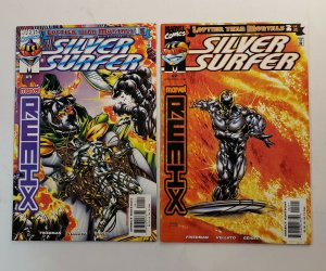 SILVER SURFER REMIX #1-2 COMPLETE SET  LOFTIER THAN MORTALS MARVEL 1999 NM