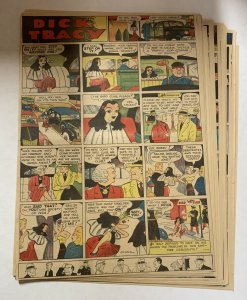 Dick Tracy Newspaper Comics 1942 Near Complete 51 Total Sundays Large Format
