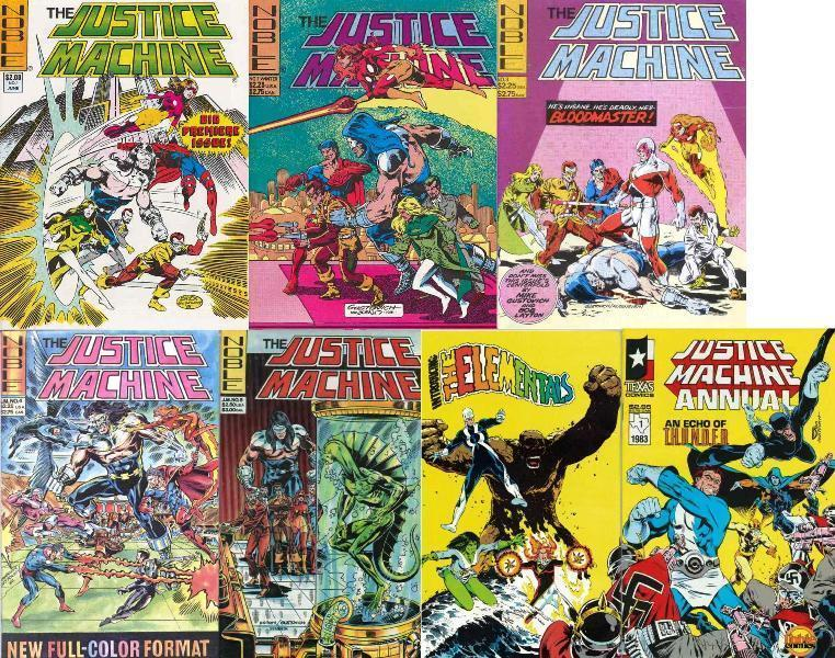 JUSTICE MACHINE (1980S 1ST SERIES NOBLE) 1-5,Annual