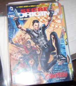 SECRET ORIGINS #  8 DC 2015  GRAYSON+ NIGHTWING