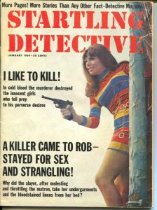 Startling Detective 4/1989-gun moll cover-lurid crime-exploitation-pulp style-VG