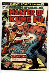 Master of Kung Fu #171974 comic book-Blackjack issue