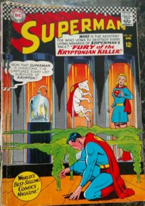 Superman #195 (DC,1967) Condition FN+