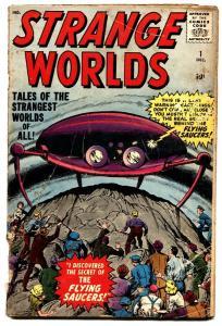 Strange Worlds #1 1958- Marvel comic Jack Kirby Flying Saucer cover