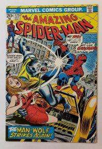 Amazing Spider-Man #125 VF/NM High Grade Marvel Bronze Age Origin Manwolf