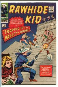 RAWHIDE KID #51 1966-MARVEL-AZTECS-GLOSSY COVER-fn/vf