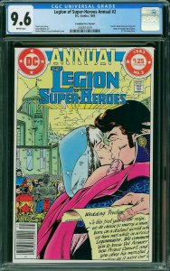 Legion of Super-Heroes Annual#2 CGC 9.6 CANADIAN EDITION Single Highest No 9.8's