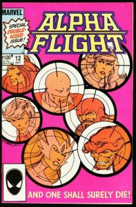 ALPHA FLIGHT #12-MARVEL COMICS-DOUBLE SIZED ISSUE NM