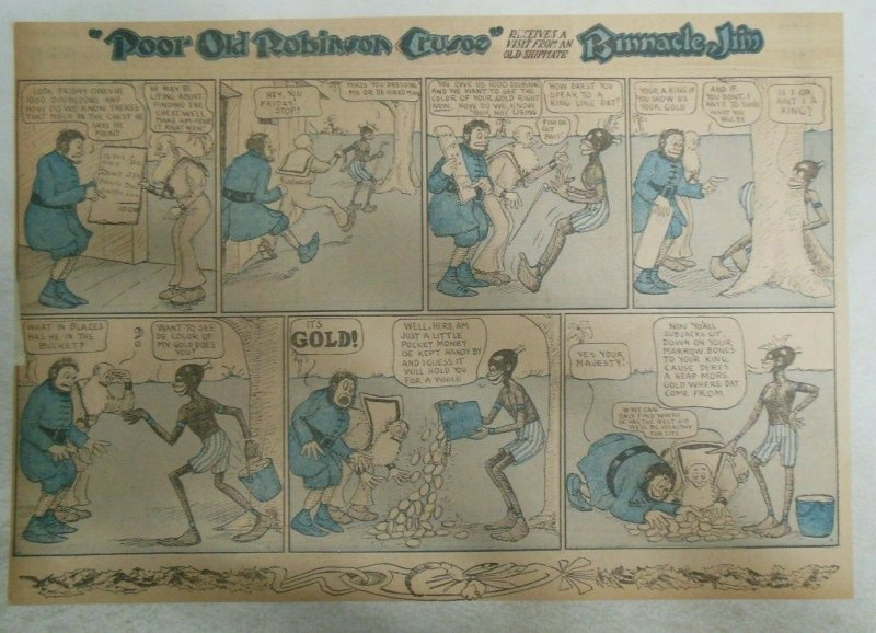 Poor Old Robinson Crusoe Sunday Page by ?  from ?/1910 Half Full Page Size!