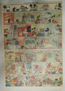 Mickey Mouse Sunday Page by Walt Disney from 8/26/1945 Tabloid Page Size