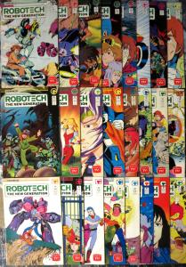 ROBOTECH: THE NEW GENERATION #1-24 (1985) short one issue, nice VG-F/better