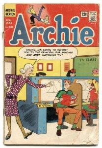 Archie #163 1966-fight cover- butcher shop VG
