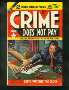 CRIME DOES NOT PAY #91 1950-CHAS BIRO-PRE CODE VIOLENCE FN-