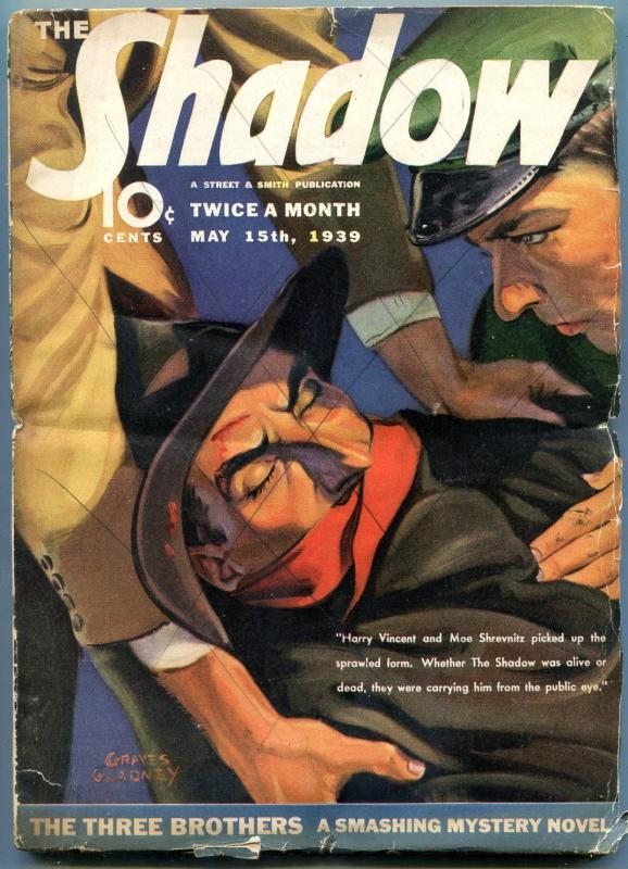 The Shadow Pulp May 15 1939- Three Brothers- VG-