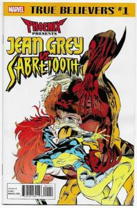 True Believers Phoenix Jean Grey vs Sabretooth #1 (Marvel, 2018) NM