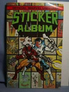 1986 Comic Images Official Marvel Universe Sticker Album W/ 35 RARE Stickers!!