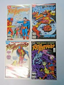 Red Tornado set #1 to #4 8.0 VF 4 different books (1985)