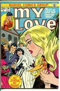 My Love #24 1973-Marvel-romance stories- Gene Colan-Don Heck-bride-FN