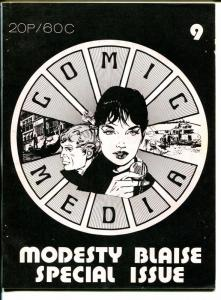 Comic Media #9 1973-British fanzine-Modest Blaise-pulps-Peter O'Donnell-VG