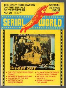 Serial World #29 1982-Kretzer-Batman & Robin-Buster Crabbe-Lost City-FN